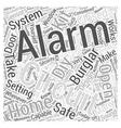 diy burglar alarm kit Word Cloud Concept vector image vector image