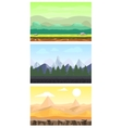 Fantasy Game Design Landscapes Set vector image vector image