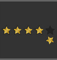 feedback 5 golden stars loss reputation online vector image