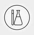 flask and test tube icon editable thin vector image