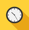 Flat style clock icon vector image vector image