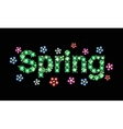 Gem word spring vector image vector image