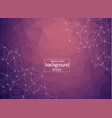 geometric light purple polygonal background vector image vector image