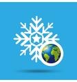 globe earth weather meteorology snow vector image