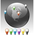 Globe with Pointers vector image vector image