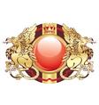 golden crest vector image