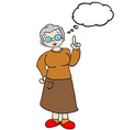 grandmother with thought bubble vector image vector image