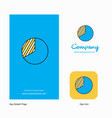 graph company logo app icon and splash page vector image vector image