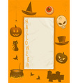 Halloween grunge paper and frame vector image