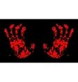Hands Bloody vector image