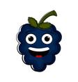 happy grapes cartoon character emote vector image