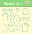Hipster fashion look Set of mens clothing vector image vector image