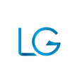 initial lg letter business logo design template vector image vector image