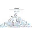 learning - modern line design style banner vector image vector image