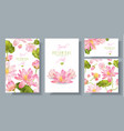 lotus banners set vector image vector image