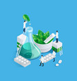 midgets and medication concept vector image vector image