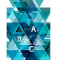 modern triangle background vector image vector image