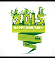 natural or eco-city new year 2015 design vector image vector image