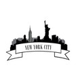 new york usa skyline american city travel landmark vector image