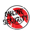 online security rubber stamp vector image vector image