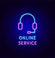 online service neon label vector image