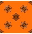 Orange elegant Ornamental stylized flower pattern vector image vector image