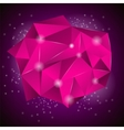 Pink Polygonal Stone vector image vector image