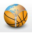 Planet Earth inside basketball ball vector image vector image