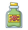 poison bottle icon cartoon style vector image vector image
