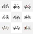 realistic road velocity adolescent cyclocross vector image vector image