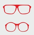 Red nerd glasses with thick holder vector image vector image