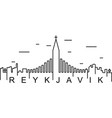 reykjavik outline icon can be used for web logo vector image vector image