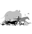 running with animals