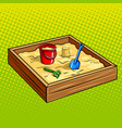 sandpit for children pop art vector image vector image