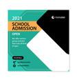 school admission social media post template design