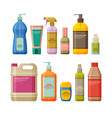 set bottles with antiseptic and hand sanitizer vector image vector image