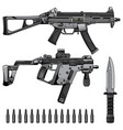 set machine gun vector image