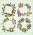 set of abstract frame doodle vector image