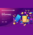 smart phone online shopping ecommerce concept vector image