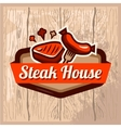 steak house logo vector image vector image