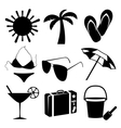 Summer and beach icons on white background vector | Price: 1 Credit (USD $1)