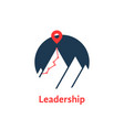 summit icon like leadership logo isolated on white vector image vector image