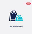 two color two shopping bags icon from business vector image