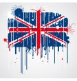 UK flag grunge vector image vector image