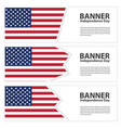 united states of american flag banners collection vector image