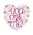 valentines day calligraphy phrase vector image