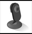 webcam black realistic icon digital communication vector image vector image