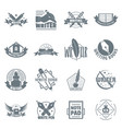 write logo icons set simple style vector image vector image