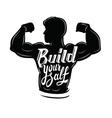 black muscle man vector image