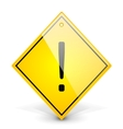 Exclamation yellow sign vector image